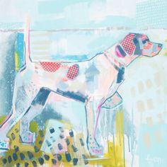 """Dottie"" 24×24 on gallery wrap Elaine Burge"