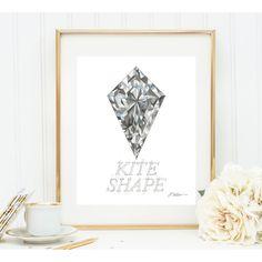 Kite Shape Diamond Print