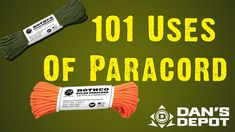 A very informative piece from Dan's Depot, this video takes a look at 101 uses of paracord in survival settings and beyond!! Enjoy!  https://www.youtube.com/watch?v=eP_sotOxU30