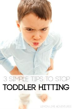 Really helpful tips for how to stop a toddler from hitting, just in case! Toddler Fun, Toddler Preschool, Toddler Activities, Toddler Stuff, Everyday Activities, Preschool Ideas, Family Activities, Toddler Behavior, Toddler Discipline