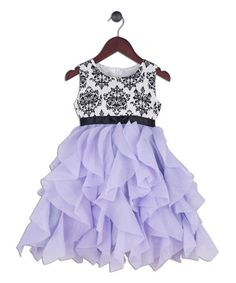 This Purple & Black Damask Sleeveless Dress - Toddler & Girls is perfect! #zulilyfinds