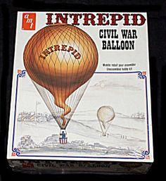 1972 Intrepid Civil War Balloon Aerial Model Kit