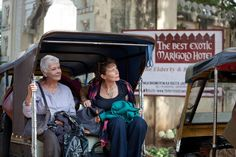 Judi Dench and Celia Imrie in Director John Madden's feel-good The Best Exotic Marigold Hotel, about a group of English retirees living in the faded glory of an old hotel in India.