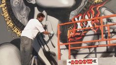 El Mac & Retna - RVCA Mural (2009) by ELMAC. This was a mural painted by Mac & Retna at RVCA headquarters in Costa Mesa, California in 2009.