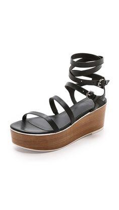 Tibi Aiko Flatform Sandals