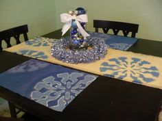 Stencil table runners