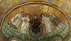 Apse_mosaic_-_Basilica_of_San_Vitale_(Ravenna) Christ enthroned