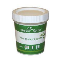 4 Pack Easy@Home Drug Test Cup for 5 popular drug tests Marijuana (THC),Amphetamine (AMP),Cocaine (COC), Methamphetamine (MET), Opiate (OPI 2000) - #ecdoa-254