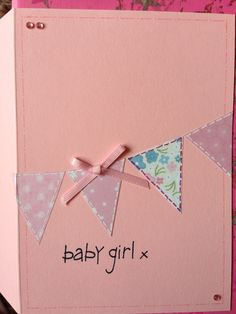 Baby girl card-new baby :)
