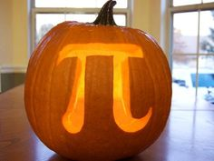 Pumpkin Pie: Think this symbol isn't scary enough for Halloween? Well, if you're not a math person, this pumpkin is downright terrifying. Photo by Casey Fleser