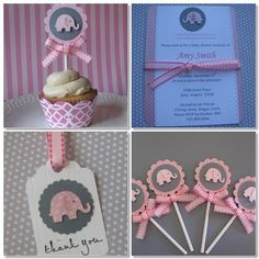pink/gray elephant party