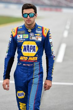 Chase Elliott, driver of the NAPA Chevrolet, walks on the grid during qualifying for the Monster Energy NASCAR Cup Series Alabama 500 at Talladega Superspeedway on October 2017 in Talladega, Alabama. Camaro Zl1, Chevrolet Camaro, Chase Elliott Nascar, Motorcycle Quotes, Girl Motorcycle, Talladega Superspeedway, Triumph Motorcycles, Custom Motorcycles, Monster Energy Nascar