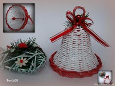 Weaving Designs, Weaving Art, Rattan, Projects To Try, Christmas Ornaments, Knitting, Holiday Decor, Home Decor, Craft