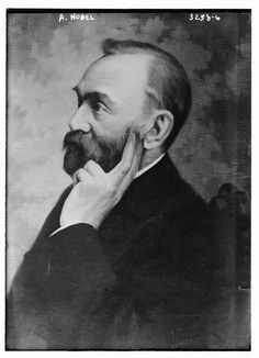 Alfred Nobel (1833 - 1896) inventor of dynamite and a Nobel Prize Awards.