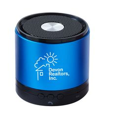 Bluetooth Multipurpose Speaker TEK107 - Great sound comes from this beautiful metal bluetooth speaker. It can be used for music, as a speaker phone, and has an auxiliary jack for plugging in non-bluetooth devices. #propelpromo