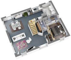 Maison Petit Budget Sun Top Duo Home Apartement Konsep - Plan 3d maison en ligne