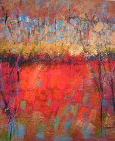 New Day by Joan Skogsberg Sanders. Evoking the splendor of a sunrise, this impressionistic piece is full of color and joy. Giclee print of an original pastel painting. Limited edition of 20.Image is 24