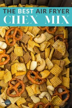 Crispy, crunchy, and delicious, Air Fryer Chex Mix will be a huge hit! A delicious and fast treat, this small-batch Chex mix will become a snack time staple. No air fryer? We have alternative cooking methods too! Air Fryer Dinner Recipes, Air Fryer Recipes Easy, Kalorik Air Fryer, Chez Mix, Small Air Fryer, Cooks Air Fryer, Air Frier Recipes, Snack Mix Recipes, Air Fryer Healthy