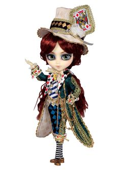 """Gorgeous!! Pullip Dolls Isul Classical Alice Mad Hatter 12"""" Doll"""
