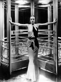 If you're going to do . Be Fashion Friday. Photo by George Hurrell Gown by Adrian Strike a pose . by Joan Crawford Hollywood Glamour Dress, Hollywood Vintage, Golden Age Of Hollywood, Classic Hollywood, Hollywood Images, Joan Crawford, Glamour Hollywoodien, Vintage Glamour, George Hurrell