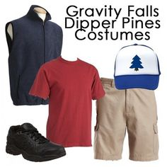 Gravity Falls Dipper Pines Costume ❤ liked on Polyvore