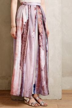 Cristina Sabaiduc Moonstone Silk Maxi Skirt #anthrofave