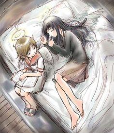 Rakka and Reki Haibane Renmei #HaibaneRenmei #fanart #anime