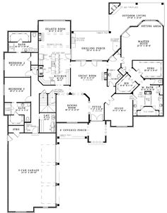 The Gates Manor Luxury Home has 3 bedrooms, 4 full baths and 1 half bath. See amenities for Plan 055S-0126.
