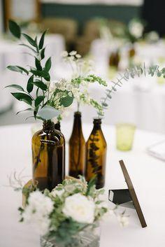 Coloured Bottles wedding centerpiece #weddingcenterpieces #centerpiece