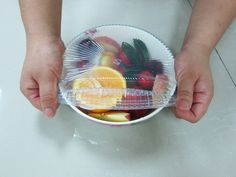 alternative to plastic wrap and safe on the environment -- Silicone Stretch Lids