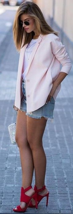 #fall #trending #outfits | Pink + Red