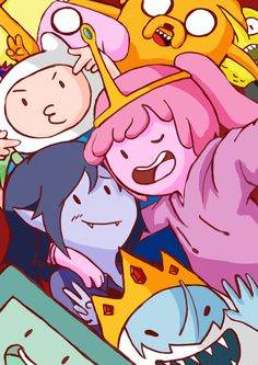 by on DeviantArt Adventure Time: Selfie Time! by on DeviantArt Adventure Time Finn, Adventure Time Drawings, Adventure Time Tattoo, Adventure Time Princesses, Adventure Time Wallpaper, Adventure Time Characters, Adventure Time Marceline, Easy Adventure, Adventure Time Poster