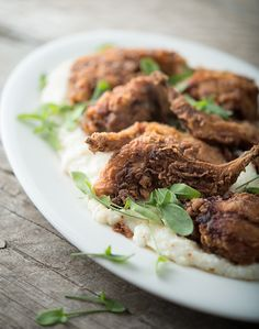 A recipe for fried rabbit, done Southern style with buttermilk. This recipe works for domestic rabbits, cottontails, young squirrels or snowshoe hares. Venison Recipes, Meat Recipes, Rabbit Recipes, Cooking Recipes, Recipies, Cooking Game, Dinner Recipes, Rabbit Stew, Rabbit Food