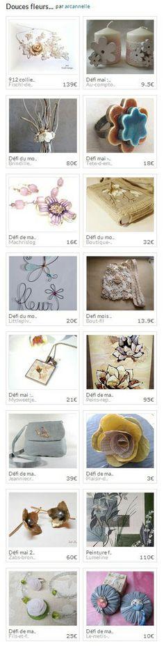 Collection Douces fleurs... par arcannelle. http://www.alittlemarket.com/collection/douces_fleurs_-296951.html