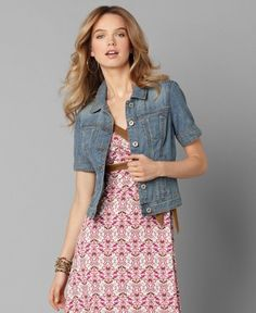 I MUST HAVE THIS SHORT SLEEVE DEMIN JACKET!!!  Perfect for summer!!!  :)  LOVE!! LOVE!! LOVE!!!!