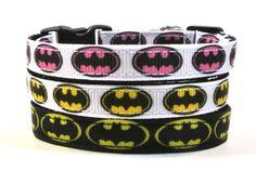 Batman Breakaway Cat Collar by SwankyKittyDesigns on Etsy, $10.00
