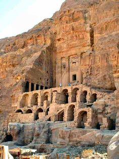 Ancient Cliff Dwelling Petra Jordan | Jordan-Petra
