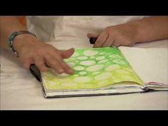 #Stenciling with #Gelatos: #DonnaDowney Series - YouTube #fabercastell #designmemorycraft