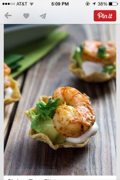 Shrimp Taco Bites! With Avacado