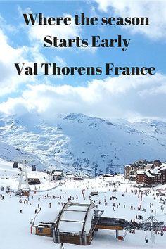 Pinterest, Where the season starts early, Val Thorens, #France #skiing #skiresort #Europe