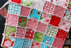 Rag quilt for the girls big girl beds