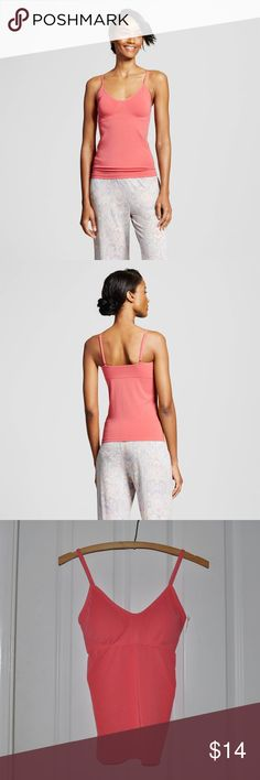 New GILLAGAN O'MALLEY Pink Seamless Cami [B1] Stay cute and comfortable all night long with this Women's Pajama Seamless Camisole by Gilligan & O'Malley. The lightweight breathable fabric, spaghetti straps and removable cups make it perfect for layering with your favorite pajama separates or wearing on its own.  size S condition: new without tags color: fifties pink  Rayon, Nylon and Spandex fabric is soft, stretchy and breathable Adjustable spaghetti straps Removable soft cups Supportive…