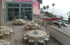 A view of the terrace at the Museum of Contemporary Art San Diego in La Jolla.