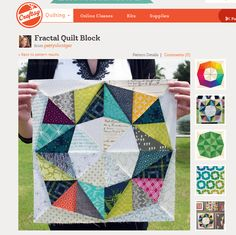 beckandlundy: Fractal Quilt Block pattern