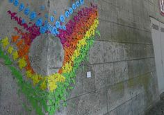 Paper Origami Rainbows Along the Streets of Paris from My Modern Met