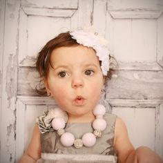 White Infant/Toddler Gumball Necklace by heysunshineshoppe on Etsy, $13.00