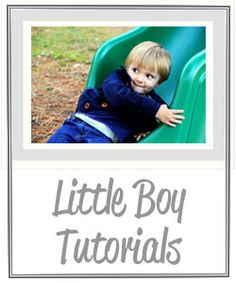 Me Sew Crazy: Little Boy Sewing Tutorial Page