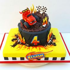 Blaze and the monster machine birthday cake