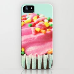 PINK CUPCAKE PHOTOGRAPH iPhone & iPod Case by Allyson Johnson - $35.00