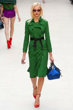 burberry spring 2013 lace green